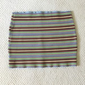 Charlotte Russe Striped Short Pencil Skirt